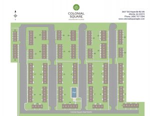 Colonial Square Apartments site map